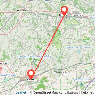 Newbury Andover bus map