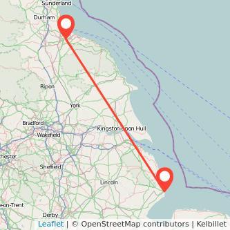 Middlesbrough Skegness bus map