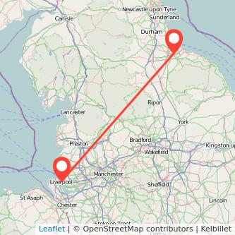 Middlesbrough Liverpool train map