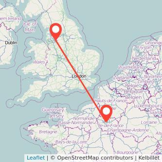 Manchester Paris bus map