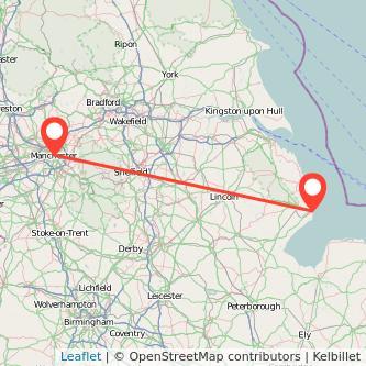 Manchester Skegness train map