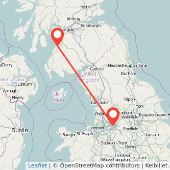 Manchester Ayr train map