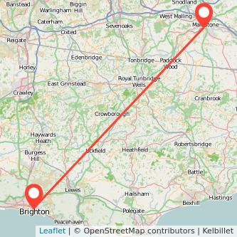 Maidstone Brighton train map