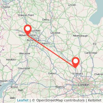 Luton Wolverhampton train map