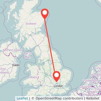 Luton Aberdeen train map