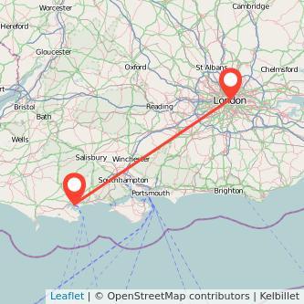 London Poole train map