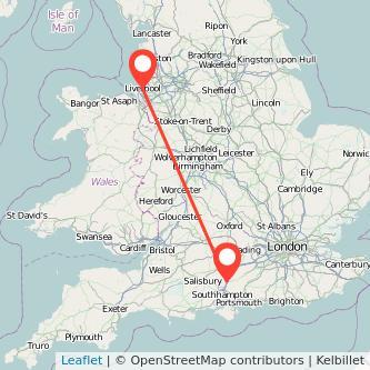 Liverpool Winchester train map