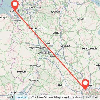 Liverpool Watford train map