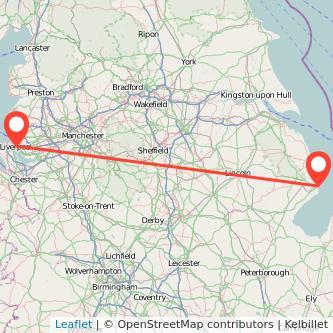 Liverpool Skegness train map
