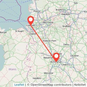Liverpool Birmingham train map
