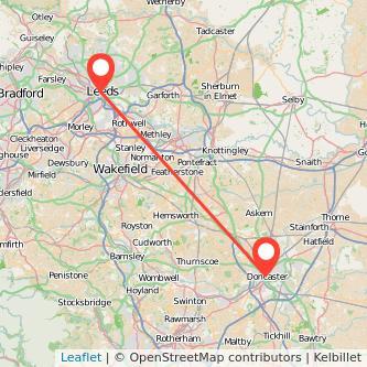 Leeds Doncaster train map