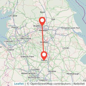 Leeds Derby bus map