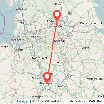 Leeds Birmingham train map