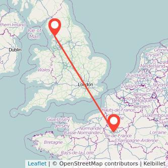 Lancaster Paris train map