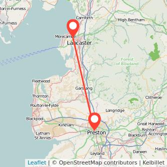 Lancaster Preston train map