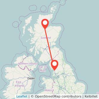 Lancaster Inverness train map
