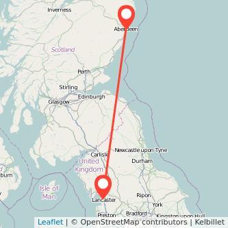 Lancaster Aberdeen train map