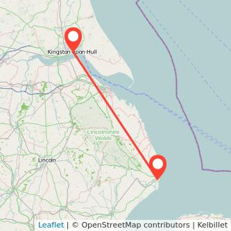 Hull Skegness train map