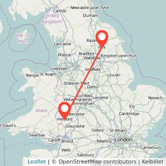 Hereford York train map