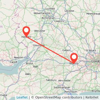 Hereford Reading train map