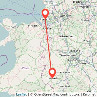 Hereford Liverpool train map