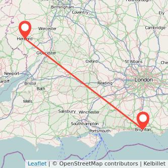 Hereford Brighton train map