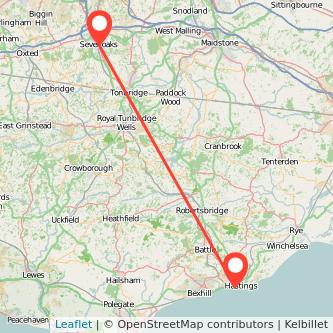 Hastings Sevenoaks train map