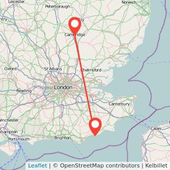 Hastings Cambridge train map