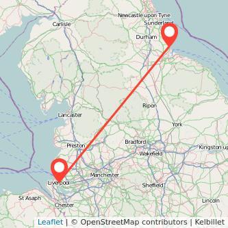 Hartlepool Liverpool train map