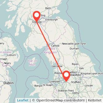 Glasgow Stockport train map