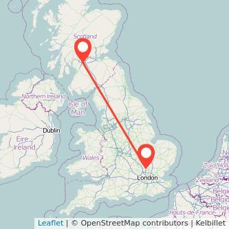 Glasgow Stevenage train map