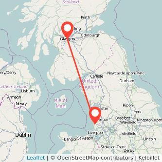 Glasgow Southport train map