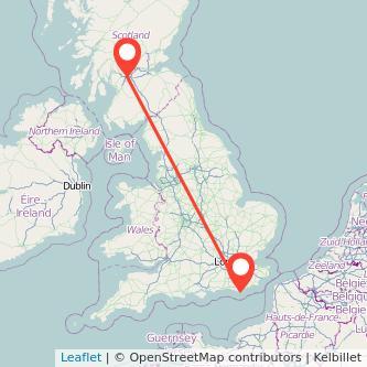 Glasgow Eastbourne train map