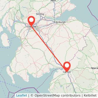 Glasgow Carlisle bus map