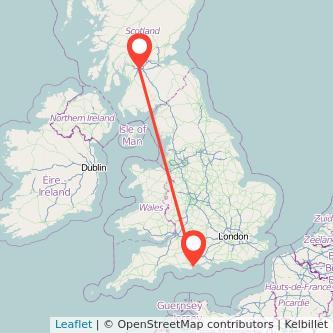 Glasgow Bournemouth train map