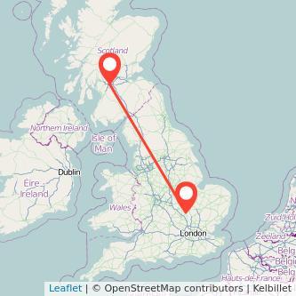 Glasgow Bedford train map