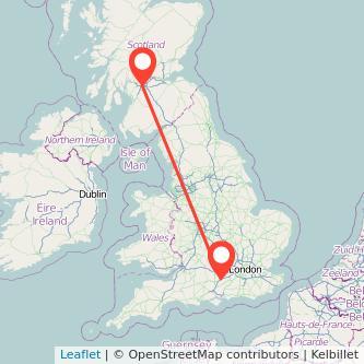 Glasgow Basingstoke train map
