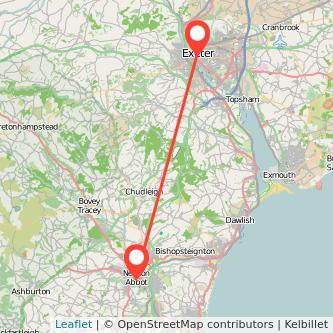 Exeter Newton Abbot bus map