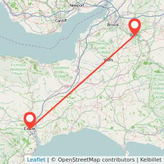 Exeter Bath train map