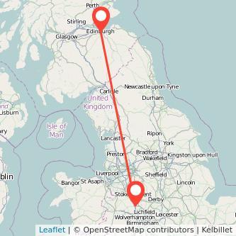 Edinburgh Stafford train map