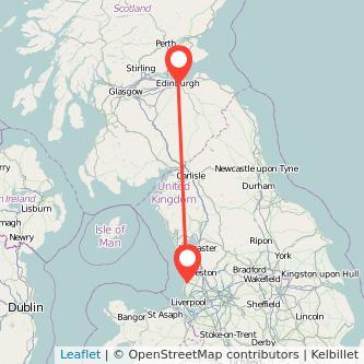 Edinburgh Southport train map