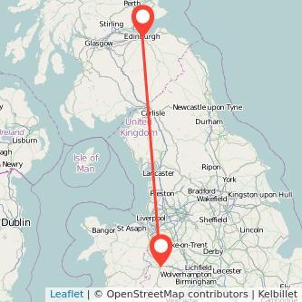 Edinburgh Shrewsbury train map