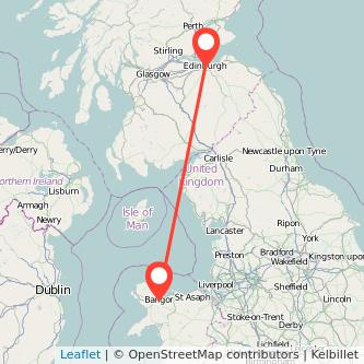 Edinburgh Bangor train map