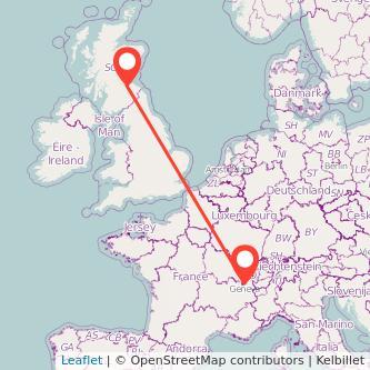 Edinburgh Geneva train map