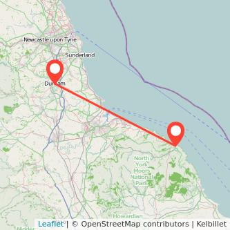 Durham Whitby train map