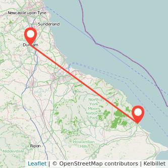 Durham Scarborough train map