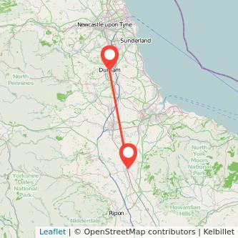 Durham Northallerton train map