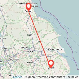 Durham Lincoln train map