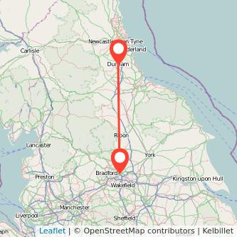 Durham Leeds train map