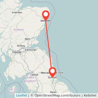 Durham Aberdeen train map